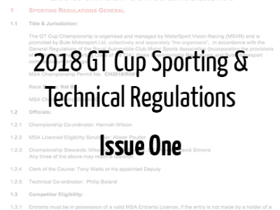 2018 Sporting & Technical Regulations Issue One