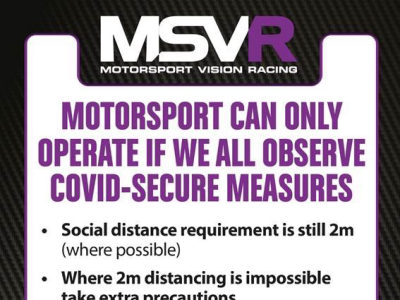 MOTORSPORT CAN ONLY OPERATE IF WE ALL OBSERVE COVID-SECURE MEASURES